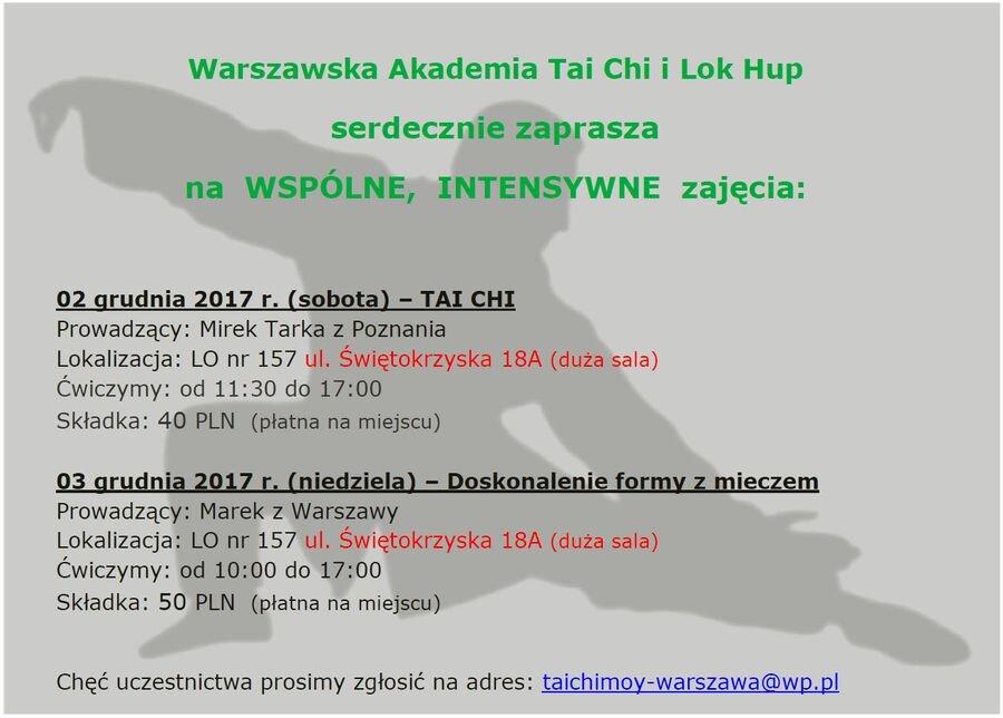 Zajęcia intensywne Warszawa